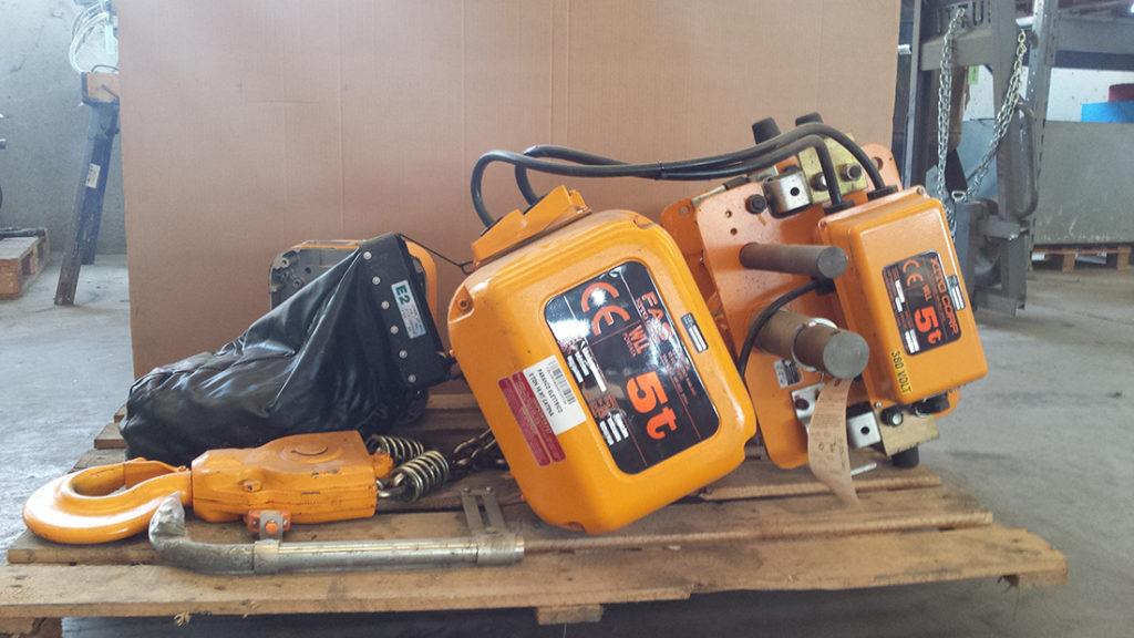 paranco elettrico usato kito corp kr50t usato cbl