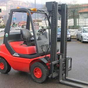 MULETTO USATO FRONTALE DIESEL LINDE MOD. H25D - Muletti usati Diesel,Benzina ed Elettrici a Bergamo e Brescia