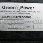 GRUPPO ELETTROGENO GREEN POWER MOD. GP 40 S-P USATO -1