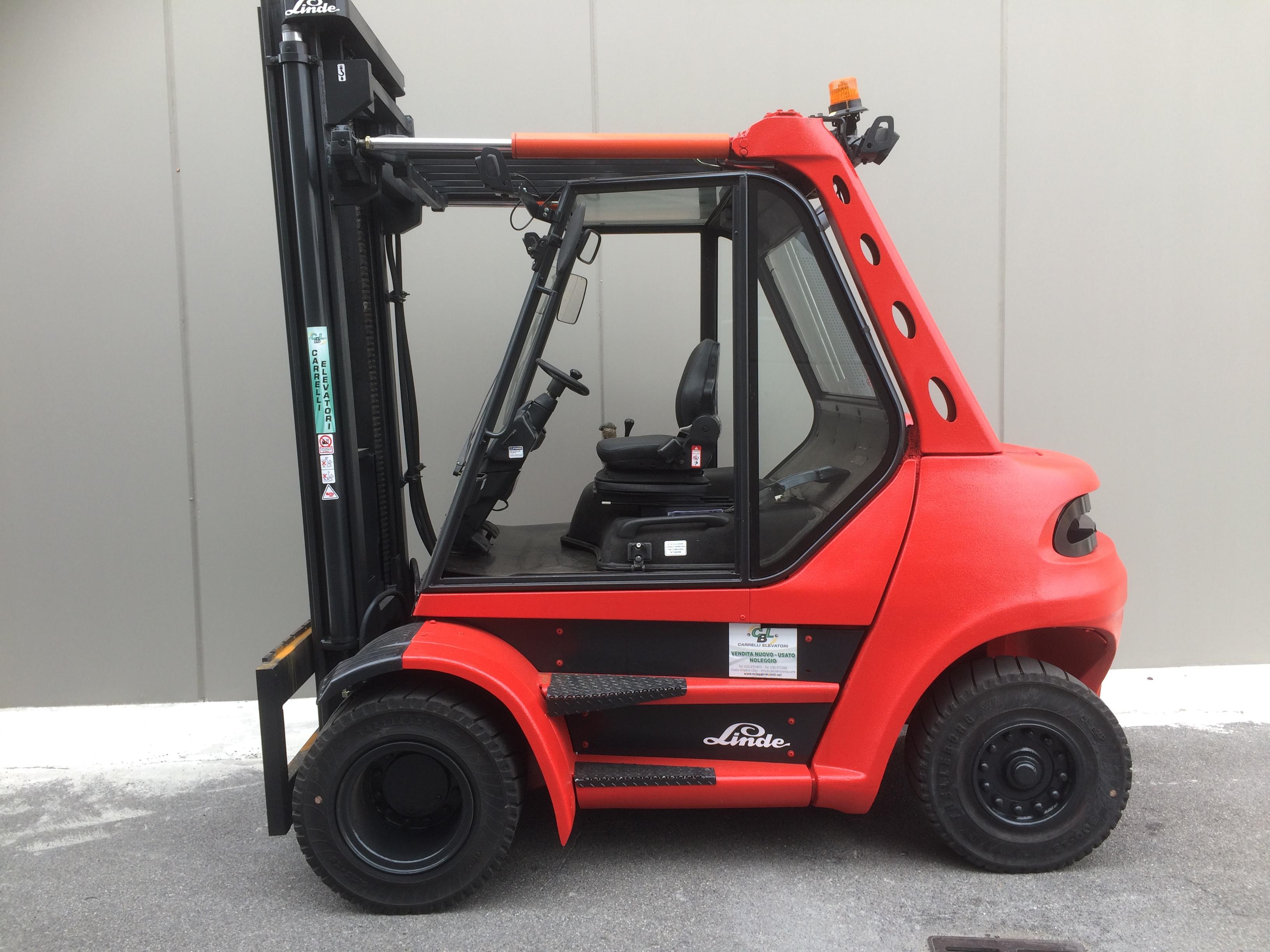 Carrello elevatore diesel linde mod h80d usato usato - Frese per piastrelle ...