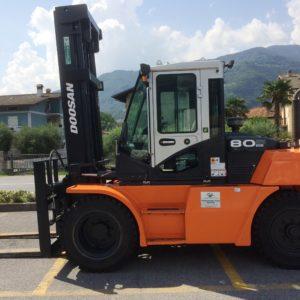 MULETTO SEMINUOVO DIESEL DOOSAN MOD. D80S-7 (Copia) - Muletti usati Diesel,Benzina ed Elettrici a Bergamo e Brescia